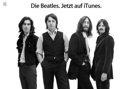 Beatles auf iTunes: Screenshot der Apple-Homepage